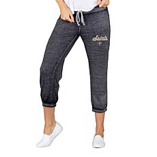 Officially Licensed NFL Knit Capri Pant by Concept Sports - Saints