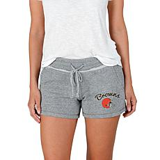 Officially Licensed NFL Mainstream Ladies Knit Shorts - Browns