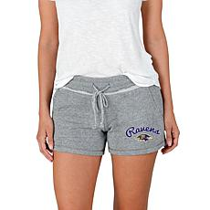 Officially Licensed NFL Mainstream Ladies Knit Shorts - Ravens