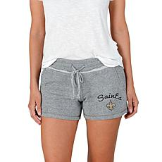 Officially Licensed NFL Mainstream Ladies Knit Shorts - Saints