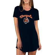 Officially Licensed NFL Marathon Nightshirt by Concept Sports- Bengals