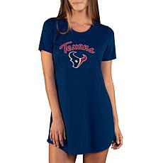 Officially Licensed NFL Marathon Nightshirt, Concept Sports - Texans