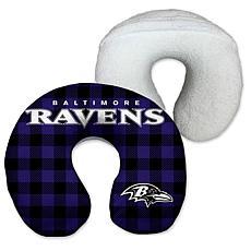 Officially Licensed NFL Memory Foam Travel Pillow - Baltimore Ravens