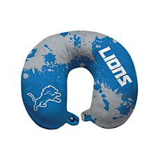 Officially Licensed NFL Memory Foam Travel Pillow - Detroit Lions