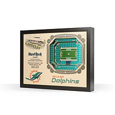 Officially Licensed NFL Miami Dolphins StadiumView 3D Wall Art