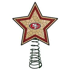 Officially Licensed NFL Mosaic Tree Topper - 49ers