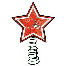 Officially Licensed NFL Mosaic Tree Topper - Browns