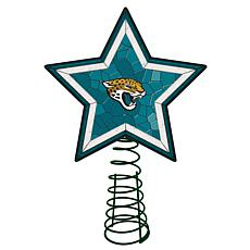 Officially Licensed NFL Mosaic Tree Topper - Jaguars