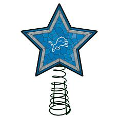 Officially Licensed NFL Mosaic Tree Topper - Lions
