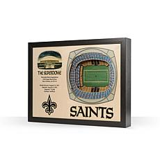 Officially Licensed NFL New Orleans Saints StadiumView 3D Wall Art