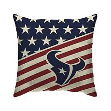 Officially Licensed NFL Pegasus Sports Americana Pillow - Texans