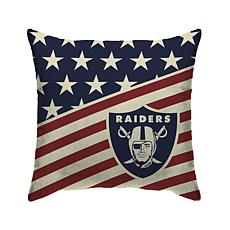 Officially Licensed NFL Pegasus Sports Americana Pillow - Raiders