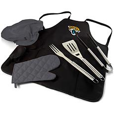 Officially Licensed NFL Picnic Time Apron Tote Pro Grill Set Jaguars