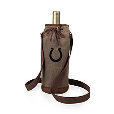 Officially Licensed NFL Picnic Time Waxed Canvas Wine Tote - Colts