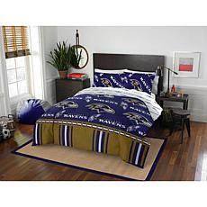 Officially Licensed NFL Queen Bed in a Bag Set - Baltimore Ravens
