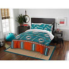 Officially Licensed NFL Queen Bed in a Bag Set - Miami Dolphins