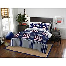 Officially Licensed NFL Queen Bed in a Bag Set - New York Giants
