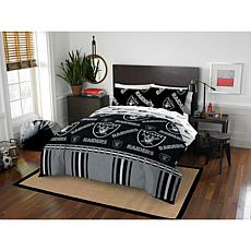 Officially Licensed NFL Queen Bed in a Bag Set - Oakland Raiders