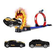 Officially Licensed NFL Racers - 2 Cars & Track Set - Steelers