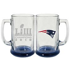 Officially Licensed NFL SB LIII Champs Highlight Bottom Stein-Patriots