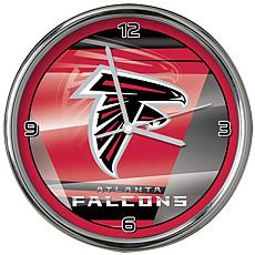 Officially Licensed NFL Shadow Chrome Clock - Falcons