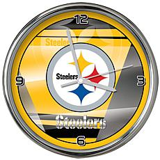 Officially Licensed NFL Shadow Chrome Clock - Steelers