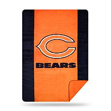 Officially Licensed NFL  Sliver Knit Throw - Bears