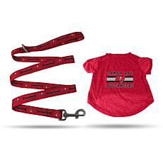 Officially Licensed NFL Small Pet T-Shirt with 4' Leash - Buccaneers