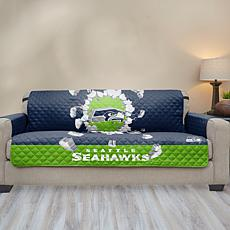 Officially Licensed NFL Sofa Protector w/3D Design