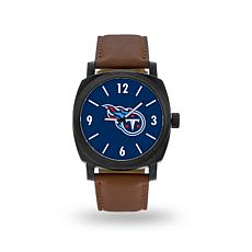 "Officially Licensed NFL Sparo ""Knight"" Faux Leather Watch - Titans"