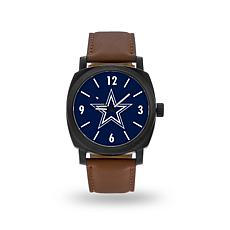 "Officially Licensed NFL Sparo ""Knight"" Faux Leather Watch - Cowboys"