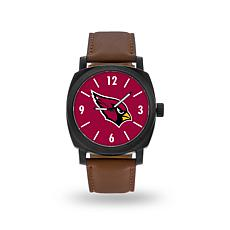 "Officially Licensed NFL Sparo ""Knight"" Faux Leather Watch - Cardinals"