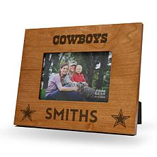 Officially Licensed NFL Sparo Personalized Wood Picture Frame - Cow...