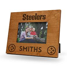 Officially Licensed NFL Sparo Personalized Wood Picture Frame - Ste...