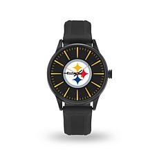 "Officially Licensed NFL Sparo Team Logo ""Cheer"" Strap Watch - Steelers"