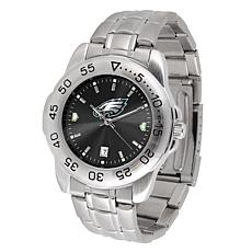 Officially Licensed NFL Sports Steel Watch - Philadelphia Eagles