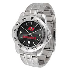 Officially Licensed NFL Sports Steel Watch - Tampa Bay Bucaneers