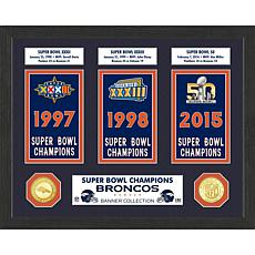 Officially Licensed NFL Super Bowl Collection Photo Mint - Broncos