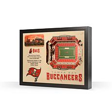 Officially Licensed NFL Tampa Bay Buccaneers StadiumView 3D Wall Art