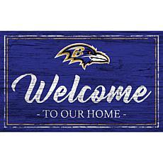 Officially Licensed NFL Team Color Sign - Baltimore Ravens