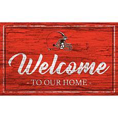 Officially Licensed NFL Team Color Sign - Cleveland Browns