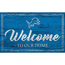 Officially Licensed NFL Team Color Sign - Detroit Lions