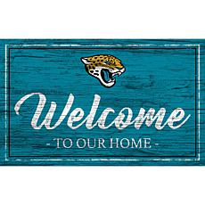 Officially Licensed NFL Team Color Sign - Jacksonville Jaguars