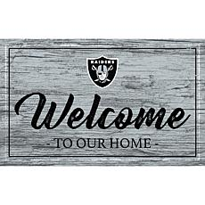 Officially Licensed NFL Team Color Sign - Oakland Raiders