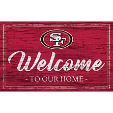 Officially Licensed NFL Team Color Sign - San Francisco 49ers