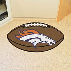 Officially Licensed NFL Team Logo Carpeted Football Mat