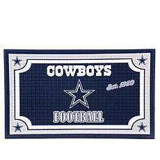 Officially Licensed NFL Team Logo Embossed Doormat