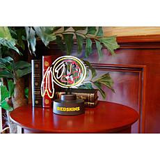 Officially Licensed NFL Team Logo Neon Lamp - Redskins