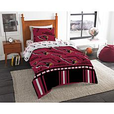 Officially Licensed NFL Twin Bed In a Bag Set - Arizona Cardinals