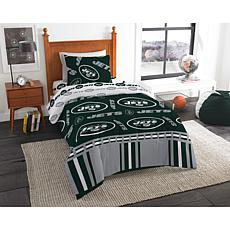 Officially Licensed NFL Twin Bed In a Bag Set - New York Jets